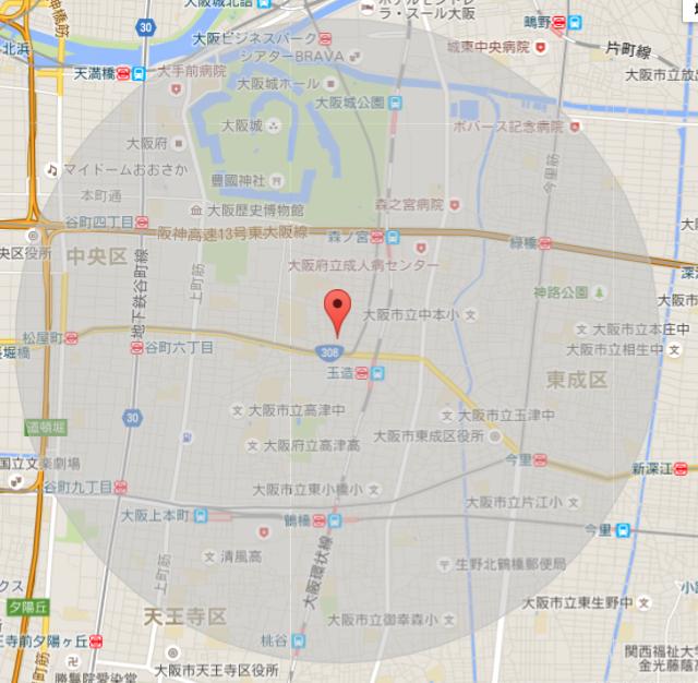 訪問圏内図